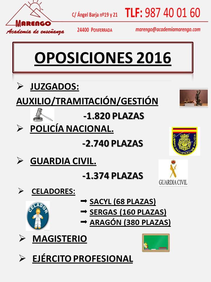OPOSICIONES 2016