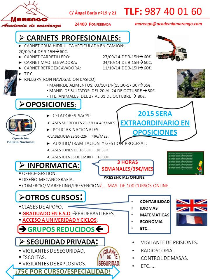 OPOSICIONES/CARNETS/CURSOS/ETC.....