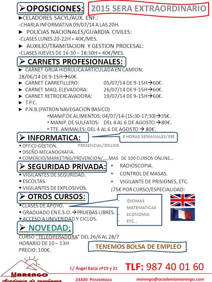 OPOSICIONES/CARNETS/INFORMATICA...JULIO 2014